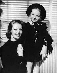 Judy Lewis with her mother, Loretta Young